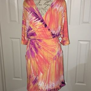 Maggy London Purple/Orange Dress